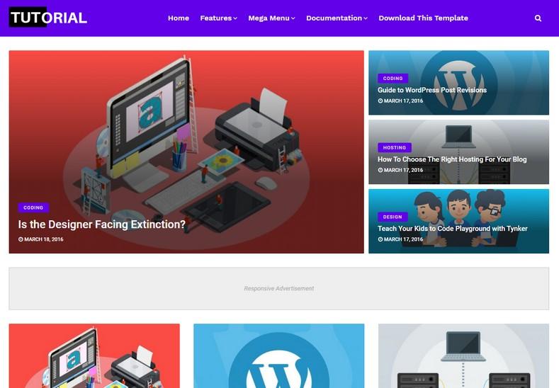 Tutorial Blogger Teması yüksek kaliteli bir blogging blogger temasıdır. Minimal yaklaşım tasarımı ile sade ve temiz bir görünüme sahiptir.