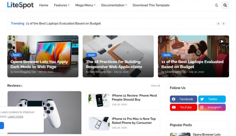 litespot blogger teması